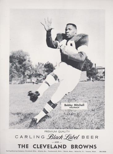 1959 Carling Black Label Beer Cleveland Browns #DBL-302G Bobby Mitchell Front