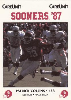 1987 Oklahoma Sooners Police #33 Patrick Collins Front