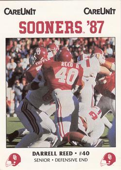 1987 Oklahoma Sooners Police #40 Darrell Reed Front