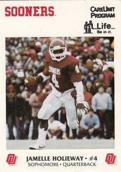 1986 Oklahoma Sooners Police #6 Jamelle Holieway Front