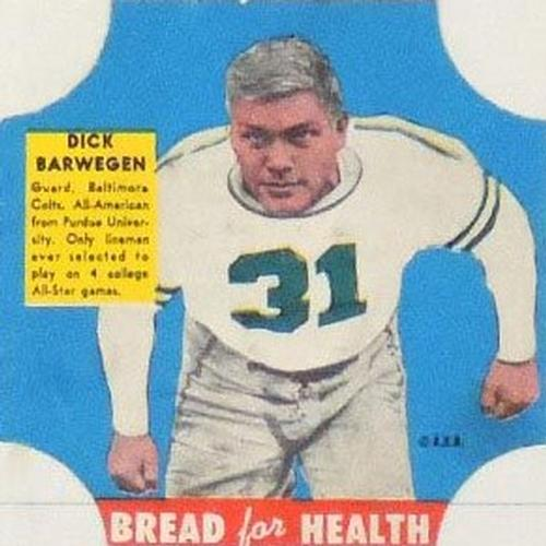 1950 Bread for Health #NNO Dick Barwegen Front