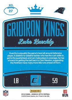 Luke Kuechly 2016 Panini Donruss Football Card !!