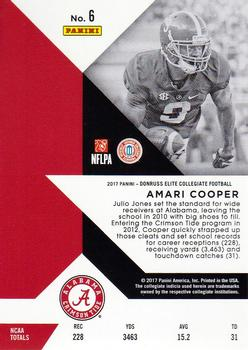 2017 Panini Elite Draft Picks #6 Amari Cooper Back