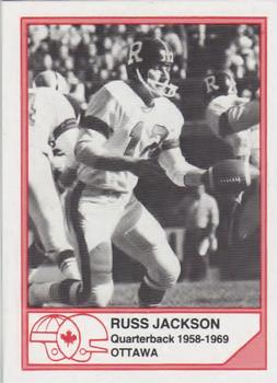 1983 JOGO CFL Hall of Fame Series A #A-1 Russ Jackson Front