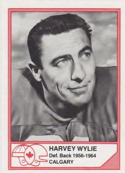 1983 JOGO CFL Hall of Fame Series A #A-2 Harvey Wylie Front