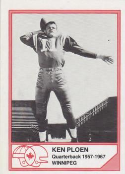 1983 JOGO CFL Hall of Fame Series A #A-3 Kenny Ploen Front