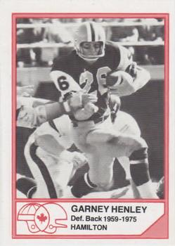 1983 JOGO CFL Hall of Fame Series A #A-4 Garney Henley Front