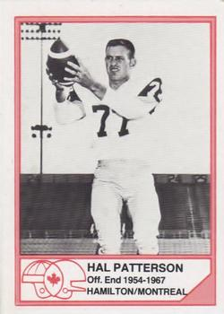 1983 JOGO CFL Hall of Fame Series A #A-5 Hal Patterson Front