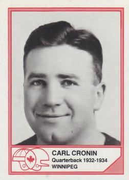 1983 JOGO CFL Hall of Fame Series A #A-6 Carl Cronin Front