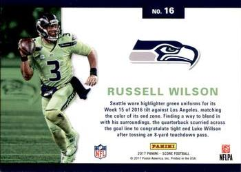 2017 Score - Color Rush  16 Russell Wilson Back 7f5e734d6