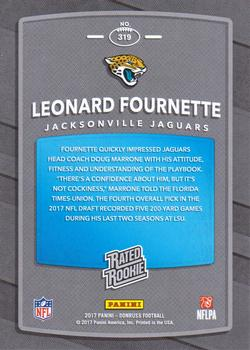 2017 Donruss #319 Leonard Fournette Back