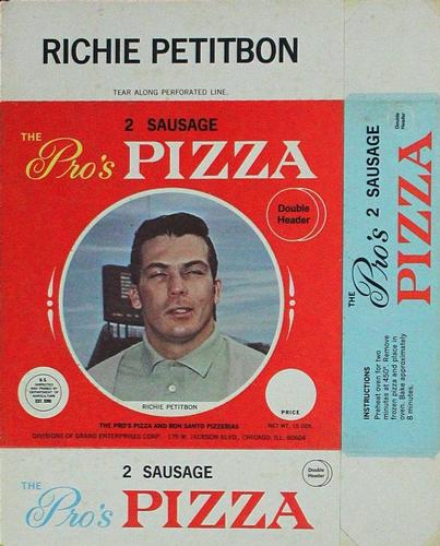 1967 Pro's Pizza Chicago Bears Discs #NNO Richie Petitbon Front