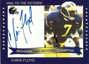 2002 TK Legacy Michigan Wolverines - National Champions Autographs #1997D Chris Floyd Front