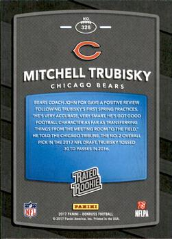 2017 Donruss - Jersey Number #328 Mitchell Trubisky Back