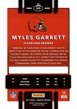 2017 Donruss - Press Proof Black #356 Myles Garrett Back
