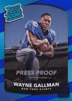 2017 Donruss - Press Proof Blue #338 Wayne Gallman Front