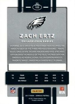 2017 Donruss - Press Proof Red #122 Zach Ertz Back