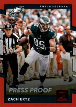 2017 Donruss - Press Proof Red #122 Zach Ertz Front