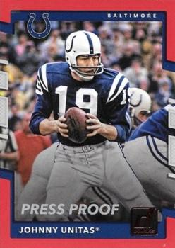 2017 Donruss - Press Proof Red #229 Johnny Unitas Front