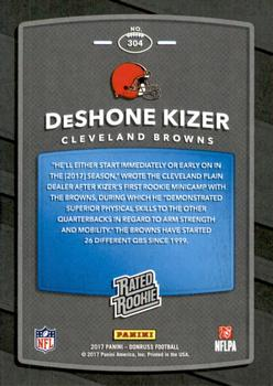 2017 Donruss - Press Proof Red #304 DeShone Kizer Back