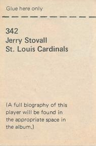1971 NFLPA Wonderful World Stamps #342 Jerry Stovall Back
