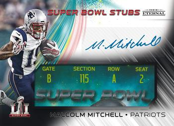 2017 Panini Eternal - Super Bowl Stubs Black #PE-SB3 Malcolm Mitchell Front