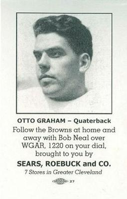 1946 Sears Browns #NNO Otto Graham Front