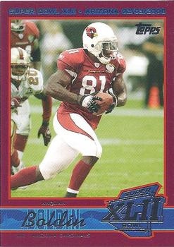 2008 Topps Arizona Cardinals Super Bowl XLII Card Show #3 Anquan Boldin Front