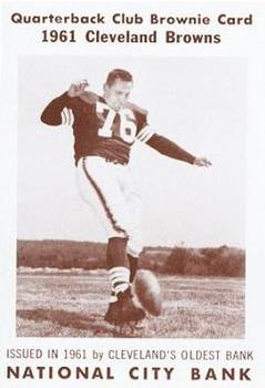 1961 National City Bank Browns - Set No. 5 #1 Lou Groza Front