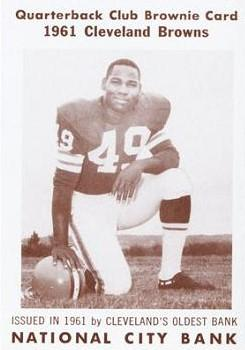 1961 National City Bank Browns - Set No. 5 #6 Bobby Mitchell Front