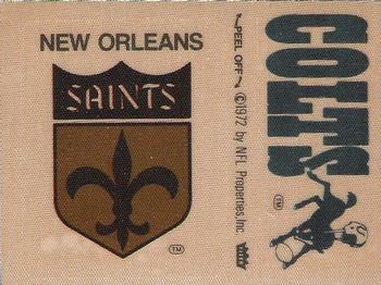 1975 Fleer Football Patches #NNO New Orleans Saints Logo / Baltimore Colts Name Front