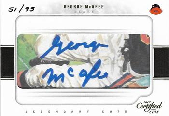 2017 Donruss Certified Cuts - Legendary Cuts #LC-GM George McAfee Front