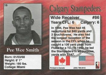 1995 R.E.L. #16 Pee Wee Smith Back