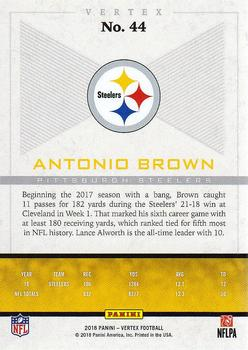 2017 Panini Vertex #44 Antonio Brown Back