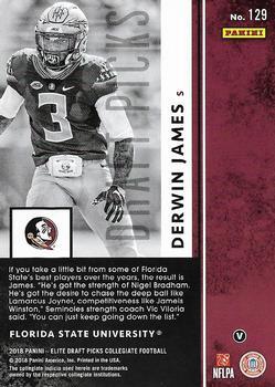 2018 Panini Elite Draft Picks #46 Jameis Winston Florida State Seminoles Football Card