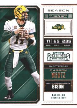 Carson Wentz Gallery | The Trading Card Database