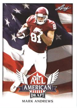 2018 Leaf Draft - All American #AA-07 Mark Andrews Front