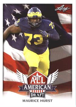 2018 Leaf Draft - All American #AA-08 Maurice Hurst Front
