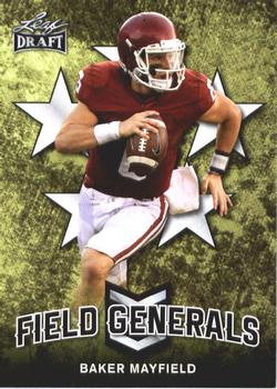 2018 Leaf Draft - Field Generals #FG-01 Baker Mayfield Front
