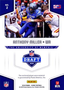 2018 Score - Collegiate Jerseys  2 Anthony Miller Back b7e28e877
