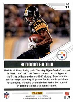 1a3efb101 2018 Score - Color Rush  11 Antonio Brown Back