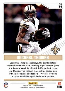 8e82d3354 2018 Score - Color Rush  14 Michael Thomas Back