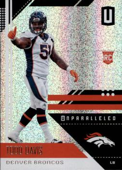 2018 Panini Unparalleled #61 Todd Davis Front