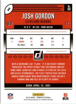 2018 Donruss #69 Josh Gordon Back