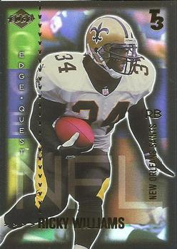 2000 Collector's Edge T3 - Edge Quest - Preview Gold #EQ11 Ricky Williams Front