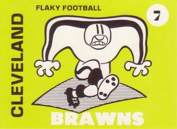 1975 Laughlin Flaky Football #7 Cleveland Brawns Front