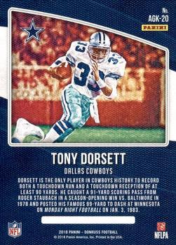 51e4a76dc1a 2018 Donruss - All-Time Gridiron Kings #AGK-20 Tony Dorsett Back