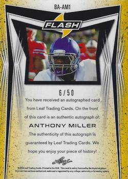 2018 Leaf Flash - Blue #BA-AM1 Anthony Miller Back
