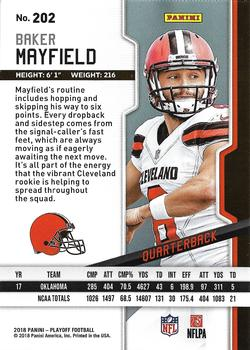 2018 Panini Playoff - Goal Line #202 Baker Mayfield Back