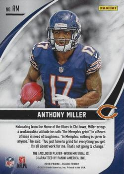 2018 Black Friday Football - Rookie Memorabilia #AM Anthony Miller Back